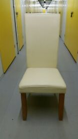 4 very comfortable dining chairs £100