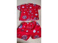 Baby Chinese shorts and shirt