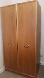 Large double door wardrobe