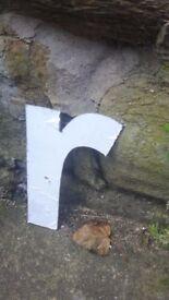 "Vintage Retro Reclaimed Salvage Shop Letters Pub Sign Industrial R r Letter ""R"""