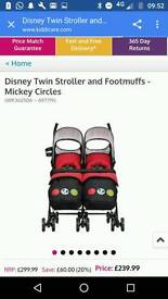 Mickey Mouse double stroller