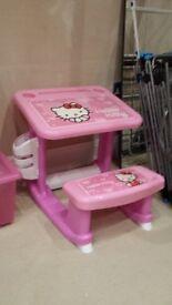 Little girls, Hello Kitty small desk.