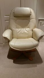 Swivel Recliner Faux Leather Chair