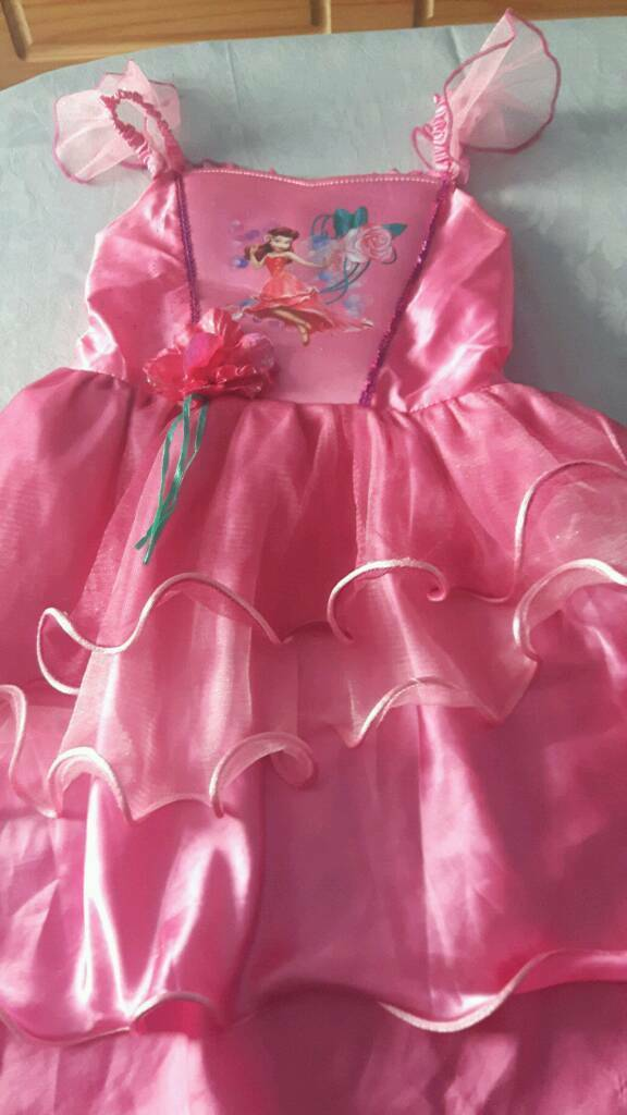 Tinkerbell light up dress age 5-6 years