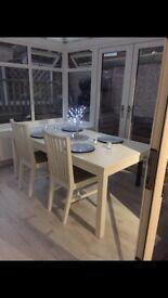 Ikea bjursta white dining table