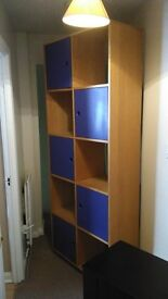 Large multi compartment storage unit . natural wood veneer and very heavy