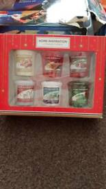 Yankee mini scented candles 6 pack.