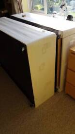 Double divan bed, two deep drawers