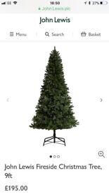 9 foot John Lewis Fireside Christmas tree