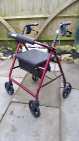 DRIVE mobility walker with seat AND holdall.