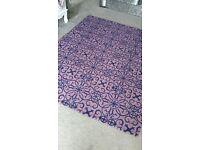 large purple patterned rug