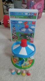 Preschool toys. Peppa pig laptop & carousel. Vtech learning bus. V tech torch and magnetic puzzle.