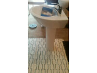 Sink bathroom 55cm complete new order