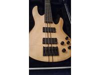 ESP LTD B-1004 NS (Natural Satin) Bass with Hard Case