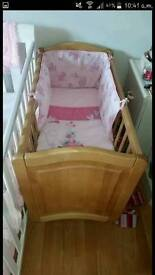 Sheets and cot bed