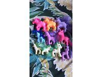 Bundle of 10 toy ponies