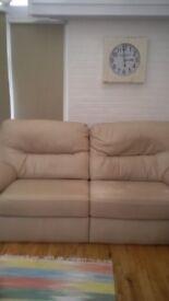 Gplan Leather Sofa