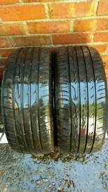 2 X 205 40 ZR17 TYRES , 5 MM TREAD DEPTH, 1 YEAR OLD , GOOD CONDITION