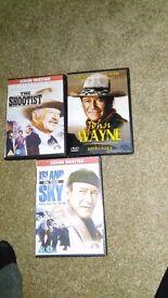 3 x various Special Collectors Edition John Wayne DVDs