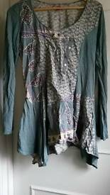 Joe Browns long sleeved tunic top UK 14-16