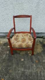 Nice bedroom chair pine mahogany coloured stain sturdy chair
