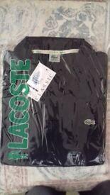Brand new sealed Lacoste large black polo shirt BARGAIN