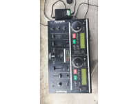 Numark twin cd player decks mix1 with power cable good working order