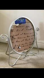 Paris mirror with decorative cursive writing