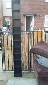 8 shelve tall black wood cd/dvd stand