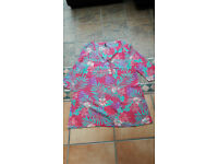 Immaculate BHS pink and turquoise cover up size 14.