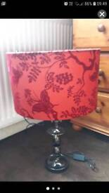 Red detailed lamp