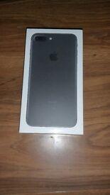 iPhone 7 Plus 128GB Matte Black BRAND NEW locked on EE UK