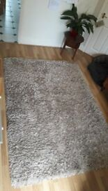 Natural colour looped wool rug from John Lewis