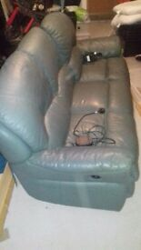 3 SEATER LEATHER SOFA ELECTRIC RELINER
