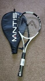 For Sale Brand New Mantis Tennis Racket with Cover
