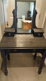 FOR SALE - Vintage Dressing Painted Table - Graphite/Bronze £75 ONO
