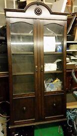 anrique dark wood bookcase