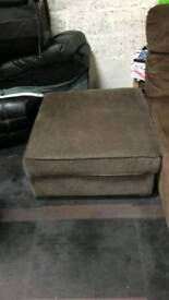 Large fabric foot stool as new