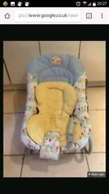 "Baby bouncer with inner ""small baby"" seat"
