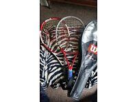 3 Wilson Tennis racquets