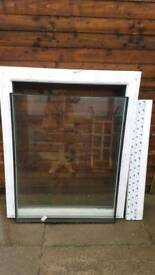 Double glazed unit (opens) with chrome handle. £250 retail
