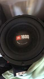 10 inch JBL competition subwoofer - 1600 watts