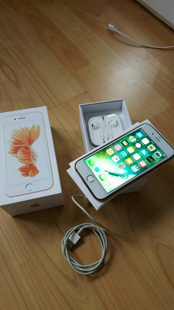 Iphone 6s 64gb rose gold (UNLOCKEDin Oldham, ManchesterGumtree - Iphone 6s 64gb rose gold (UNLOCKED) to any network comes with box charger earphones, case and screen protector from new. Full working order and no scratches no dents. Pick up only.£390 OVNO