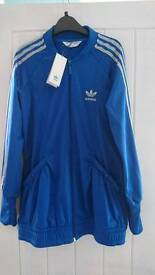 New with tags ladies Adidas originals zip up jacket size 9-10