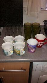 Mugs and glasses