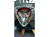 HEAVY ORNAMENTAL GLASS ASHTRAY