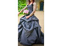 Unique black wedding dress