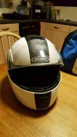 Flip face motor cycle helmet