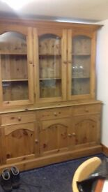 Three Glass Door Dresser £100