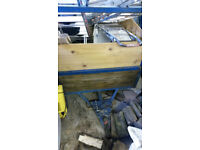 Trailer 6ft x 4ft with ladder rack. Aluminium base, steel frame, wooden sides